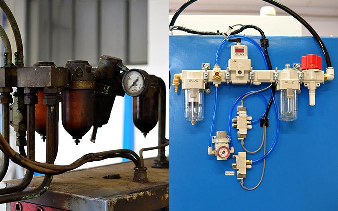 Felújított hegesztőgép - felújított pneumatikus kör