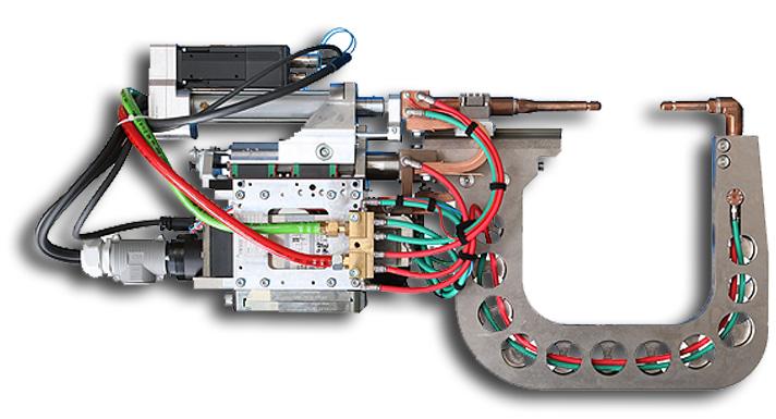 Robotkarra szerelt ponthegesztő pisztolyok C-50