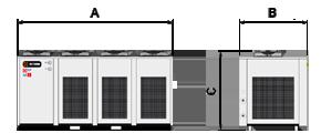 A CHWT 1202 hűtőberendezés mérete