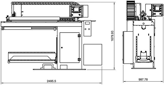 Lineáris hegesztőgép TIG hegesztő berendezéssel – méretek